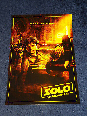 Star Wars Solo movie poster + button set AMC exclusive NEW opening night