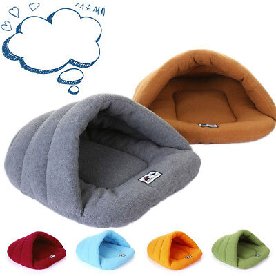 Pet Cat Dog House Cave Soft Warm Bed Cushion Slipper House Kennel Sleep Pad