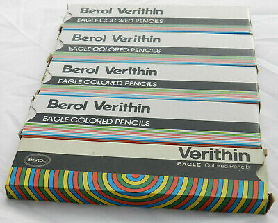 Vintage Berol Eagle Verithin Colored Pencils - 3 Colors - 10 Count New Old Box