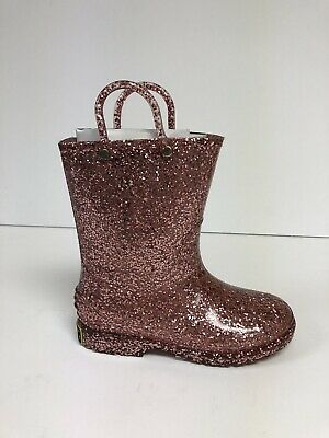 Western Chief Toddler Girls Size 11M Pink Glitter Waterproof Boots