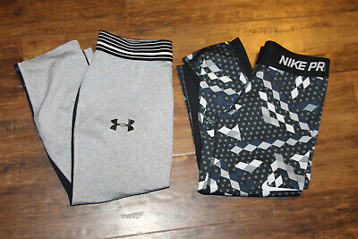 Lot of UNDER ARMOUR Youth Girls Medium HEAT GEAR+NIKE Dri Fit pants