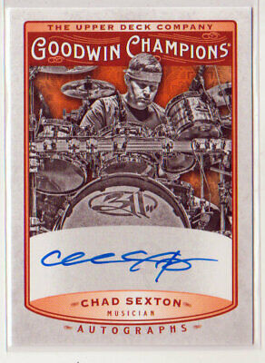 2019 UD Goodwin Champions AUTOGRAPHS CHAD SEXTON On-Card! 1:223