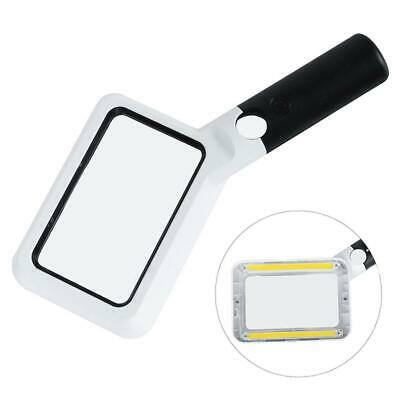 LED Light Source Rectangular Folding 2X Old Man Hand-held HD Magnifying Glass