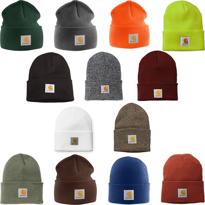 Beanie Hat Carhartt Grey Red One Size Adults Unisex CLEARANCE SALE