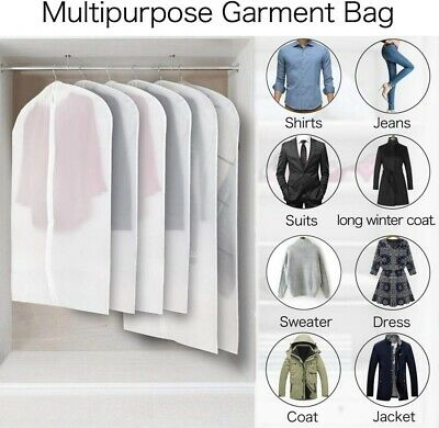 10/12x SUIT DRESS CLOTHING DUST COVER BAGS Jacket Wardrobe Storage Coat Protecto