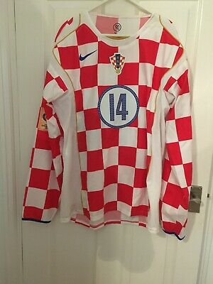 Croatia Match Worn National Shirt World Cup 2006 Qualifier