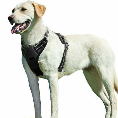 No Pull Dog Harness Large Black, Front Clip Vest Harness Dog