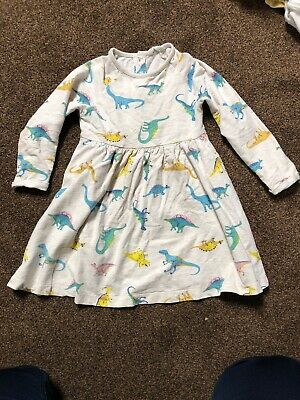 John Lewis Long Sleeve Dinosaur Dress 2-3yrs