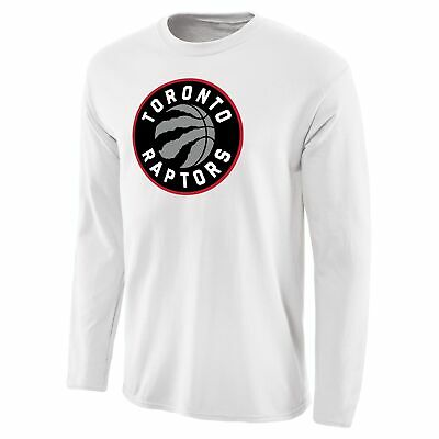 Toronto Raptors Fanatics Branded Primary Logo Long Sleeve T-Shirt - White