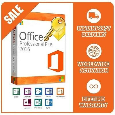 Microsoft Office 2016 Professional Plus Pro 32/64 Bit Activation Worldwide
