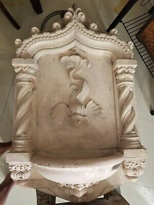 1920s vintage hand carved fountain