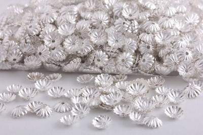1000 Pcs Silver Color beads caps Charms spacer findings 6mm