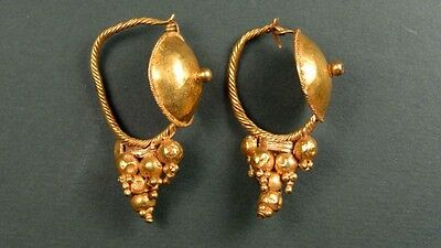 CHRISTIE'S PROVENANCE ROMAN GOLD EARRINGS 2nd CENTURY AD