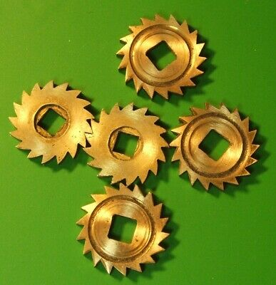 CLOCK PARTS SPARES - RATCHET WHEELS - BRASS - MIX LOT OF 5pcs- FREE POSTAGE -