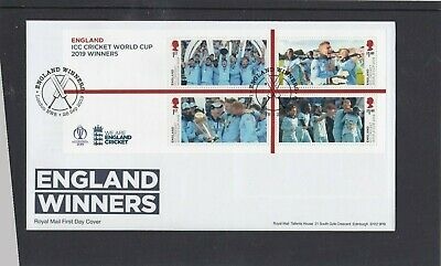GB 2019 Cricket World Cup Winners MS First Day Cover London NW8 bats special pmk