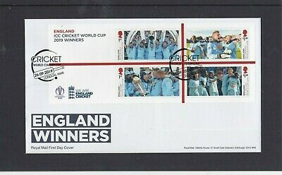 GB 2019 Cricket World Cup Winners MS First Day Cover Champs bat London NW8 pmk