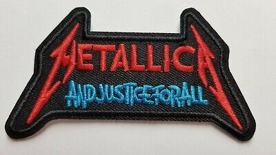 Metallica  and Justice For All...  logo embroidered  IRON ON , OR SEW  PATCH