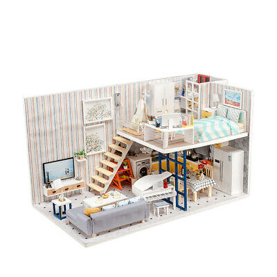 DIY Handcraft Miniature Project Wooden Dolls House Elegant Little Studio