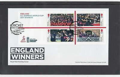 GB 2019 Cricket Womens World Cup Winners MS First Day Cover Champs bat NW8 pmk