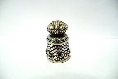 Thimble Pewter Stephen Frost Oyster Shell Topper & Opens Up To A Pearl