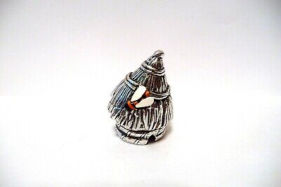 Thimble Pewter Stephen Frost A Bee Skep W/Handpainted Bee Affixed & It Opens