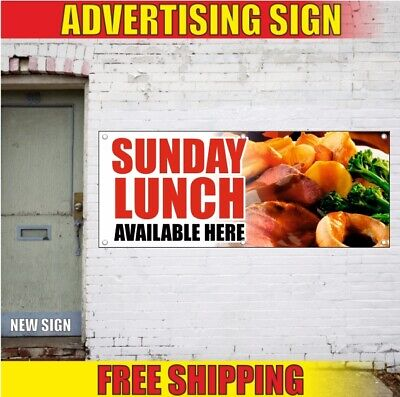 LUNCH BUFFET BANNER SIGN ayce all you can eat food luncheon quality