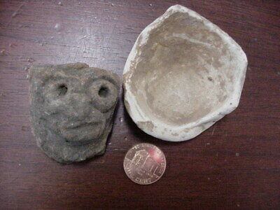 Ancient Aztec ? Pre ? Mexican ? Columbia, Myan Pottery Head Figure, Americas #2
