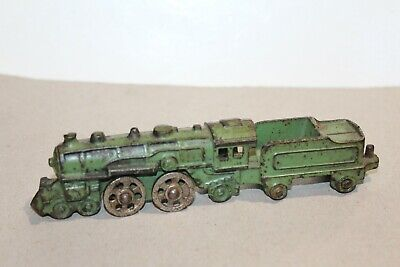 NICE EARLY VINTAGE ONE PIECE CAST IRON LOCOMOTIVE with TENDER