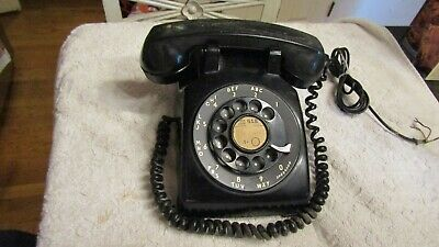 Vintage Bell System Western Electric Black Rotary Dial Desk Telephone 1962