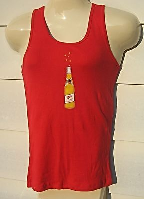 New Ladies (L) BELLA  Miller HIGH LIFE Bottle Beer T Shirt Top Tank  lg lite