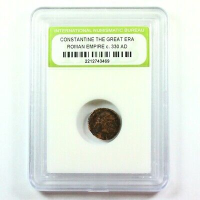 Slabbed Ancient Roman Constantine the Great Coin c. 330 AD Exact Coin Shown 2058
