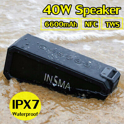 40W bluetooth Speaker Wireless Portable Waterproof Subwoofer Stereo Boombox Bass