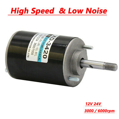 12V 24V 30W Permanent Magnet DC Electric Motor High Speed CW/CCW Generator UK