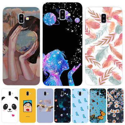 For Samsung J4 J6 Plus A7 A9 2018 Slim Painted Back Cover Silicone TPU Soft Case