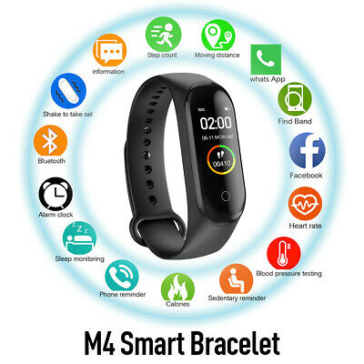 Smart Watch Sport Fitness Tracker Step Counter Pedometer Calorie Heart Rate Ip67