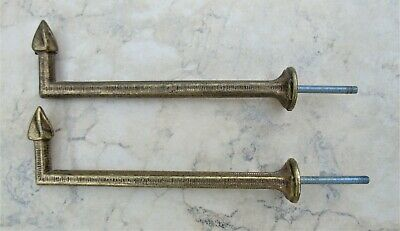 TIEBACK HOOKS FRENCH ANTIQUE Lg PAIR 7.5 INCHES LONG 480+gms TASSEL CURTAIN HOOK