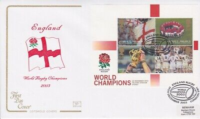 Gb Stamps Mini Sheet First Day Cover 2003 Rugby Superb Cotswold Collection