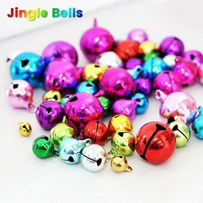 10x Christmas Jingle Bells Silver Bell Copper Making Craft DIY Xmas Tree Decorat