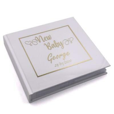 Personalised Baby Shower Gift New Baby Photo Album Heart Design Boxed FLPV-17