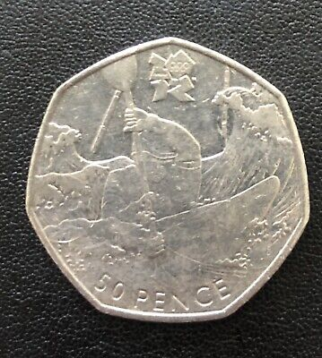 London 2012 Olympic Games Canoeing 50p Circulated Fifty Pence
