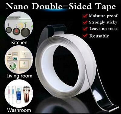 1/3/5M Reusable Magic Nano Tape Double Sided Traceless Adhesive Tape Removable