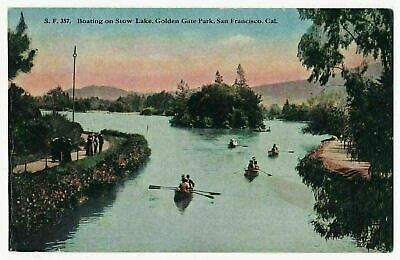 Boating on Stow Lake, Golden Gate State Park, San Francisco, California ca.1910