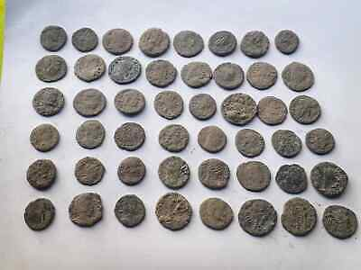 Lot of 48 ancient Roman Bronze Coins Good Quality  INTACT