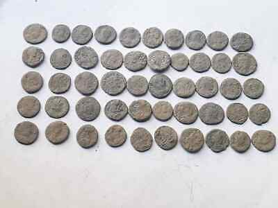 Lot of 50 ancient Roman Bronze Coins Good Quality  INTACT
