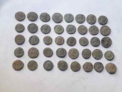 Lot of 40 ancient Roman Bronze Coins Good Quality  INTACT