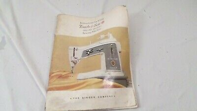 1964 Singer Touch & Sew Deluxe Zig Zag Sewing Machine Manual