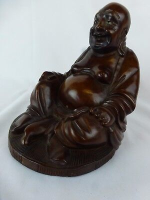 Superb Large Old Chinese Carved Wood Figurine ca. 1950s  [Y8-W8-A9]