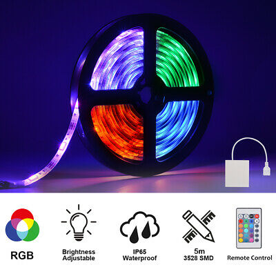 LED Strip USB+Battery Powered Ruban LED Bande RGB LED TV Light 5m LD2057