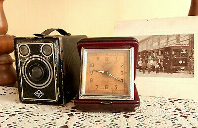 Vintage alarm clock Slava Dorogni mechanical soviet watch rare USSR