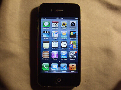 Black Apple iPhone 4 8GB Verizon, Straight Talk, Page Plus, TracFone, others  b4